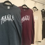"BEGINNING NOTES ""LEMMINGS"" L/S Tシャツ"