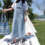 【dress】カジュアルすね丈ノースリーブAラインカジュアルワンピ18200788