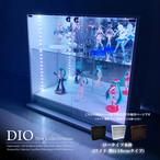 地球家具 コレクションラック DIO ディオ ワイド ロータイプ 本体 鍵付( 幅90cm 奥行18cm 高さ81cm タイプ 浅型 ホワイト , ブラック , ブラウン )