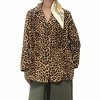 70's Vintage Leopard Fake Fur Jacket