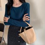 【tops】着やせ伸縮性いいカラー豊富人気ありTシャツ 23162276