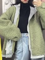 羊毛フードジャンパー もこもこ  フードジャンパー 韓国ファッション