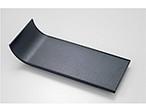 300耐熱ABS短冊皿 黒乾漆/タタキ