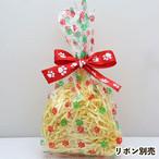 【10枚セット】肉球クリスマスカラーセロファンバッグ(小)