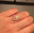 マーキース モアサナイト 2カラット ダイヤモンド リング 18k