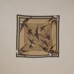 Organic Cotton Neckerchief 'canopy' Camel リング付きミニスカーフ