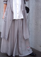 cupro shirring skirt(herringbone)