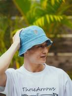 Aloha Patch Bucket Hat (light indigo)