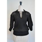 【RehersalL】puff sleeve commando sweater(black) /【リハーズオール】パフスリーブコマンドセーター(ブラック)