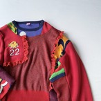 【SHINPIN×jane's vintage】Patchwork sweatshirt