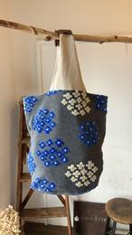 【bucket bag】flower star/グレー/original design