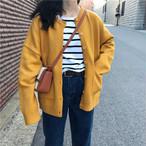 ニットカーディガン無地 シンプル セーター【0388】