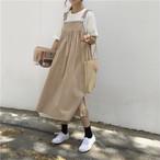 無地 シンプル ジャンパースカート【15015】