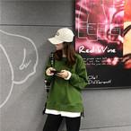 フェイクレイヤード シンプル トレーナー【16739】