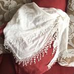 secondhand/white1レーススカーフ