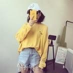 【tops】Tシャツドルマンスリーブアルファベット刺繍プルオーバートップス