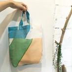 【maco】トートbag Mサイズ(ブルー布)