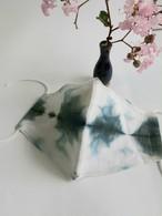 ベンガラ染め×藍染布で立体マスク③