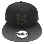 Nible Flat Visor Cap / Black