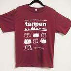 Tシャツ tanpan on TRAIL バーガンディレッド