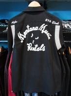 S/Sボーリングシャツ Montana Music Rentals ブラック HOUSTON