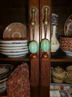 青磁陶磁器風鎮 celadon porcelain for hanging-scroll weight