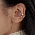 hold c ear cuff silver