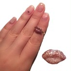 kiss ring (gold pink)