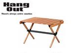 HangOut(ハングアウト) ポール ローテーブル POL-T60 折り畳み 木製 ウッド テーブル コンパクト 持ち運び 収納 アウトドア キャンプ グッズ