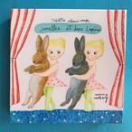 キャンパスプリント 「jumelles et deux lapins」
