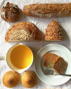 【冷凍便限定】栗粉のケイク1/2本 & クリスマスパンセット & かぼちゃの豆乳ポタージュ2人前