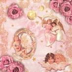 入荷しました|完売再入荷【IHR】バラ売り2枚 ランチサイズ ペーパーナプキン ROMANTIC ANGELS ローズ