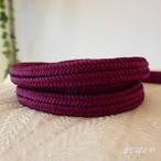 正絹ゆるぎ ラズベリー色の帯締め