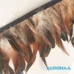 フェザーロール 【ナチュラル】 14~19cm丈 1m DIY 羽 タヒチアン 衣装材料 タヒチアン ポリネシアンフェザー