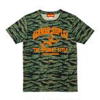 TM-01/TAKAYAMANIA Tシャツ/タイガーカモxオレンジ
