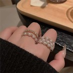 pearl stone ring 2type