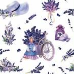 2020秋冬新作【ti-flair】バラ売り2枚 ランチサイズ ペーパーナプキン Lavender Bouquets with Tilda Doll ホワイト