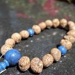 縞星月 瑠璃石仕立て(Star moon linden&Lapis Lazuli)