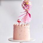 コンフェッティ入りミニバルーンケーキトッパー♪ 誕生日  1歳 赤ちゃん ベビー 飾り 装飾 飾り付け プレゼント バースデー