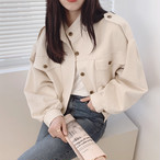 〈カフェシリーズ〉香港風ルーズショートジャケット【Hong Kong loose short jacket】