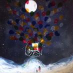 絵画 インテリア アートパネル 雑貨 壁掛け 置物 おしゃれ 水彩画 イラスト 満月 夜 夢  ロココロ 画家 : ゆりんぐ 作品 : 満月の夜に君の夢の話を聞かせて