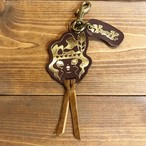 YUMYUM-Indian leather key holder Brown-Gold