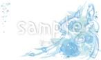 【名刺・カードサイズ】flower_blue(jpg)