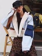 カルボデニム羊毛ジャケット デニムジャケット ジャケット  韓国ファッション