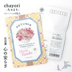 ペチュニア|chayori 花言葉シリーズ|煎茶玄米茶ティーバッグ2包入|お茶入りポストカード