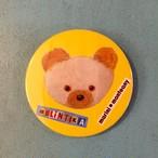 大きな缶バッチ bear face