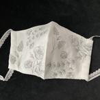 フラワーガーデン 刺繍マスク(オフホワイト)