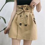 トレンチスカート ベルト ショート丈 ボタン スカート おしゃれ 通勤 カジュアル 無地 OL g53