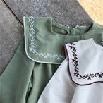 ビッグカラー 刺繍 ブラウス 韓国子供服/韓国ベビー服