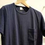 Workers(ワーカーズ) クルーネック 半袖ポケットTシャツ ネイビー